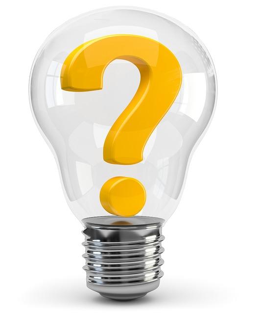 Frage Fragezeichen Licht aufgehen